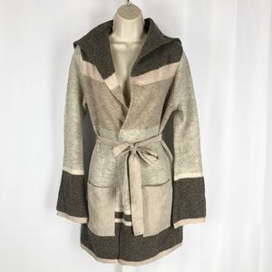 Anthropologie Angel of the North Belted Sweater
